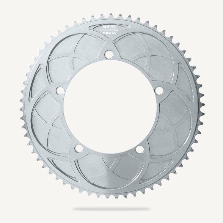 Bespoke Stealth Rose Aero BCD130 Chainring - Silver