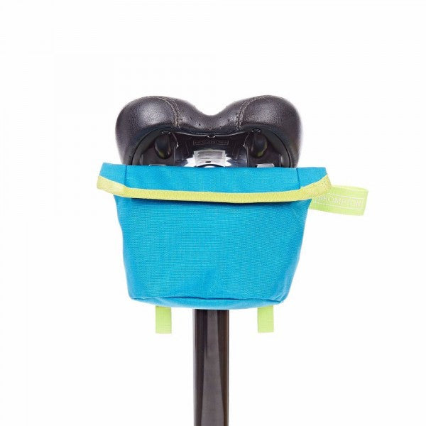 Brompton Saddle Pouch - Lagoon Blue/Lime Green