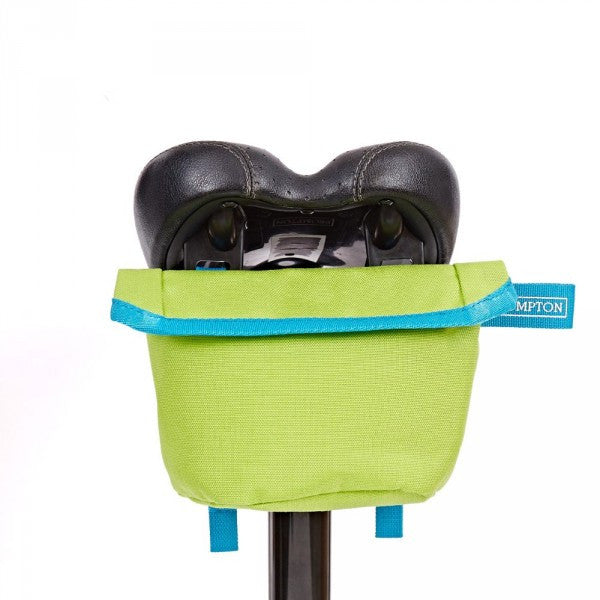 Brompton Saddle Pouch - Lime Green/Lagoon Blue