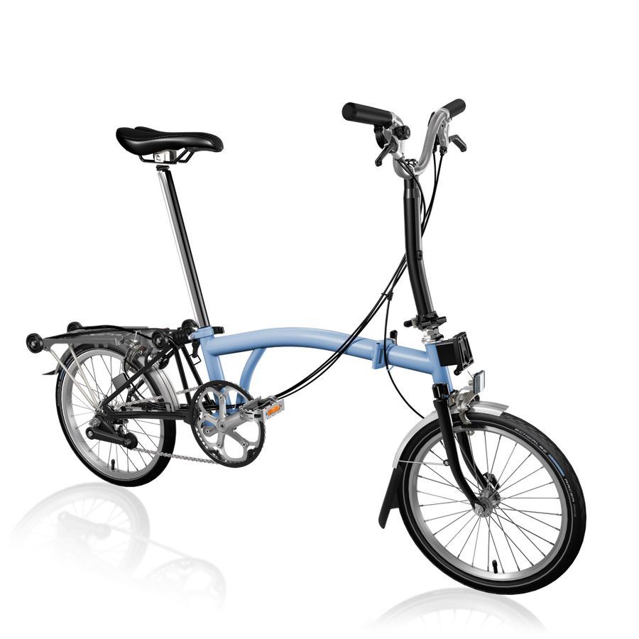 Brompton M6R - Cloud Blue/Black - SpinWarriors