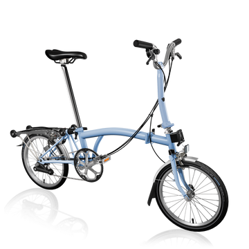 Brompton M6R - Cloud Blue/Cloud Blue - SpinWarriors