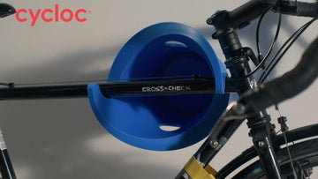 Cycloc Solo Bike Wall Rack - Blue - SpinWarriors