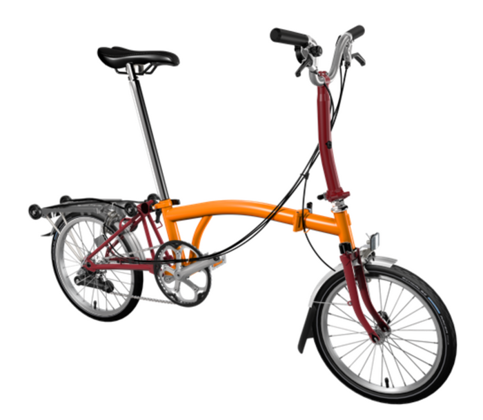 Brompton M6R - Orange/House Red