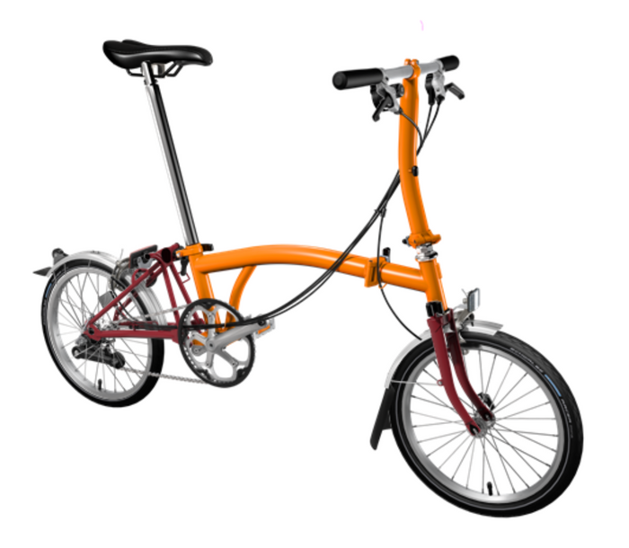 Brompton S6L - Orange/House Red