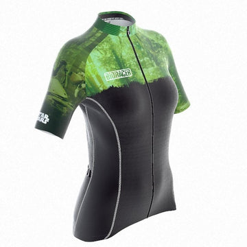 Bioracer Star Wars Planet Women Jersey - Green Forests of Endor - SpinWarriors