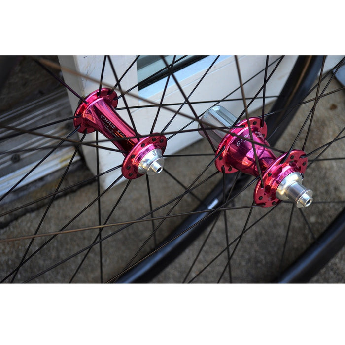 ENVE SES 3.4 Carbon Tubular Wheelset - Chris King R45 Pink Ceramic Hubs