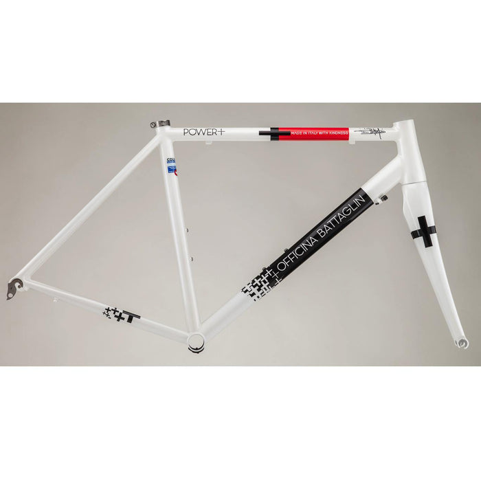 Battaglin Power+ Steel Frameset - White