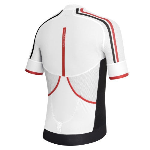 Zero rh+ Hexagon Jersey FZ – White/Black