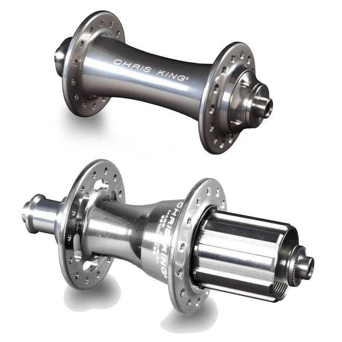 Chris King R45 Ceramic Road Hub Set - Silver