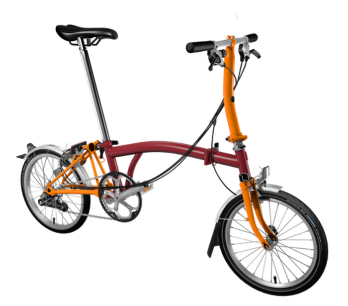 Brompton S6L - House Red/Orange