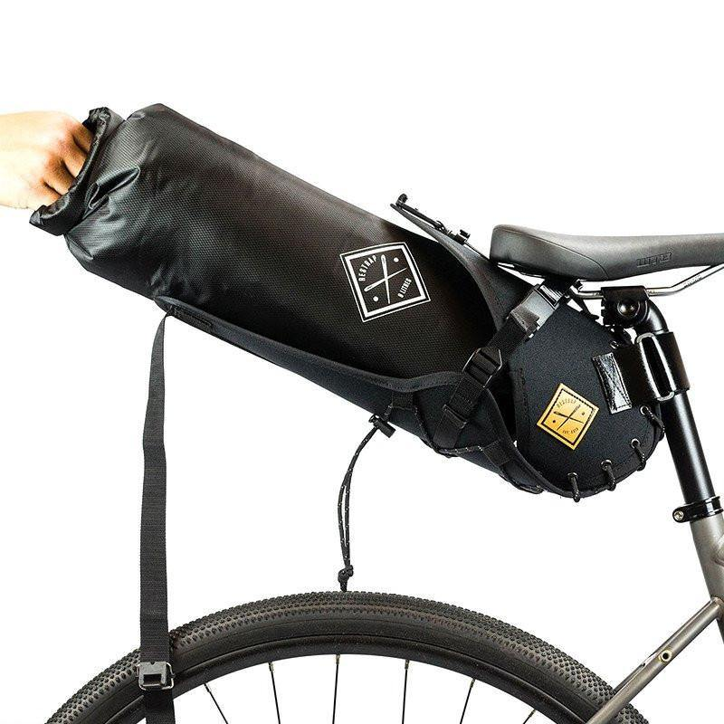 Restrap Saddle Bag Holster + Dry Bag (8 Litres) - Black/Black