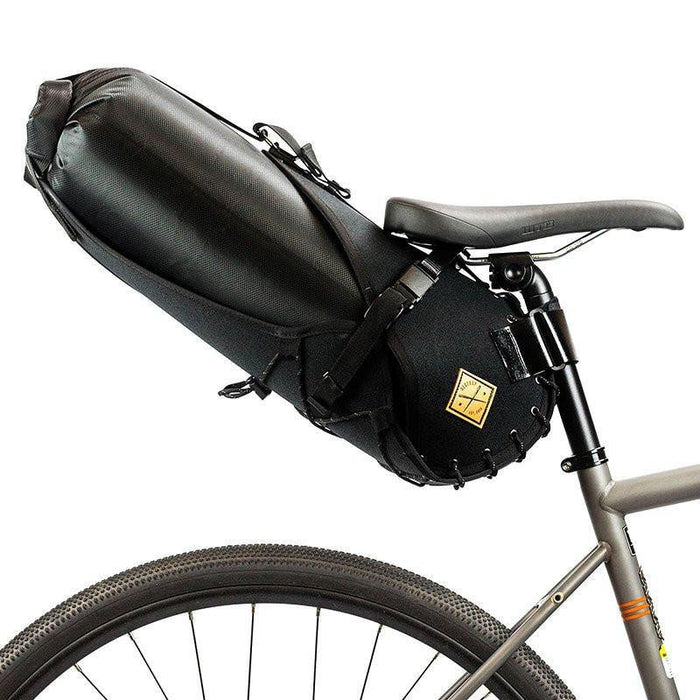 Restrap Saddle Bag Holster + Dry Bag (14 Litres) - Black/Black