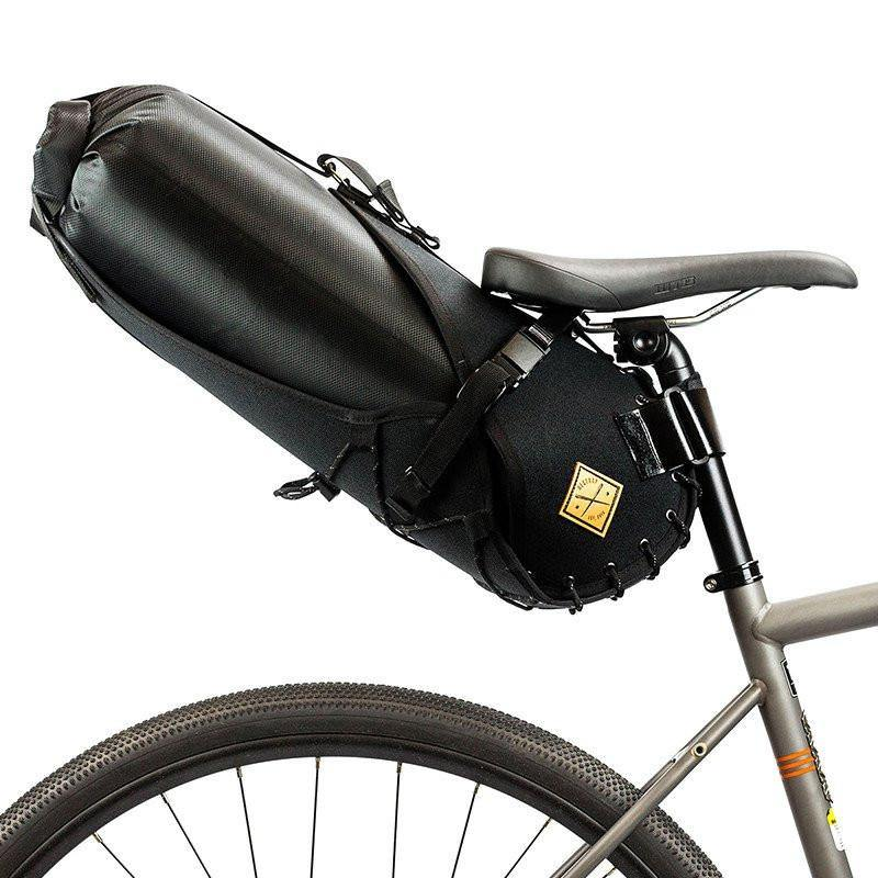Restrap Saddle Bag Holster + Dry Bag (14 Litres) - Black/Black - SpinWarriors