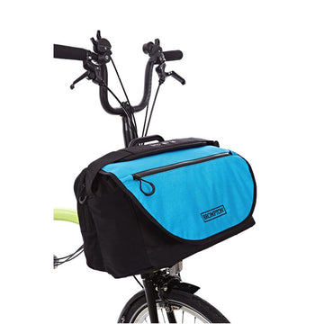 Brompton S Bag with Lagoon Blue Flap
