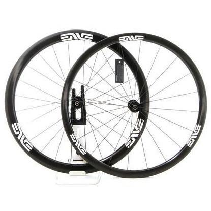 ENVE SES 3.4 Carbon Clincher Road Wheelset - Chris King R45 Ceramic Hubs - White Decal