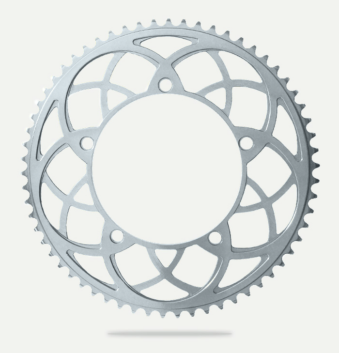 Bespoke Rose Window BCD130 Chainring - Silver