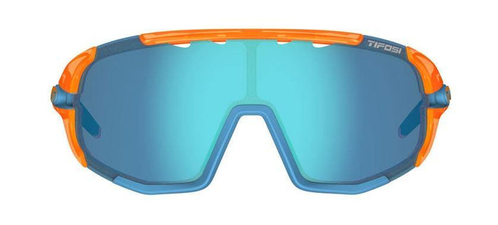 Tifosi Sledge Crystal Orange Sunglasses - Clarion Blue, AC Red & Clear Lenses
