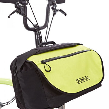 Brompton S Bag with Lime Green Flap