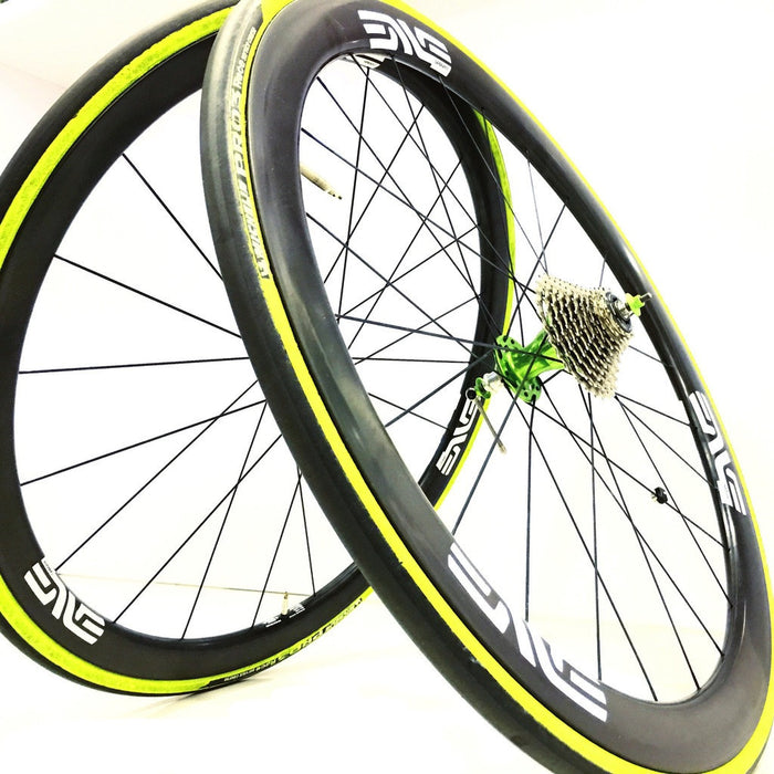 ENVE SES 3.4 Carbon Clincher Wheelset - Chris King R45 Sour Apple Ceramic Hubs