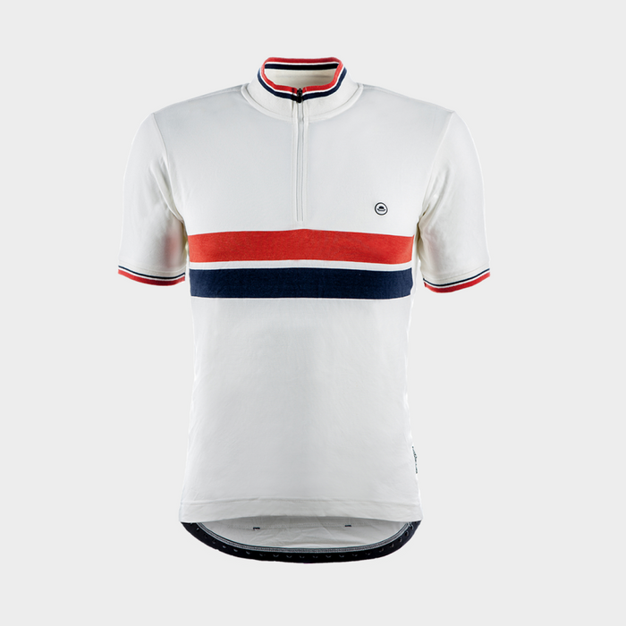 Chapeau! Cafe Twin Stripe Jersey - O White