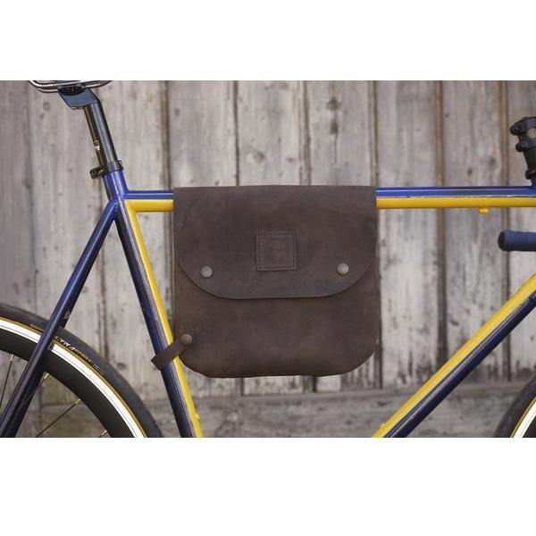 Souma Bikegab - Leather Bicycle Frame Bag/Shoulder Bag - Dark Brown