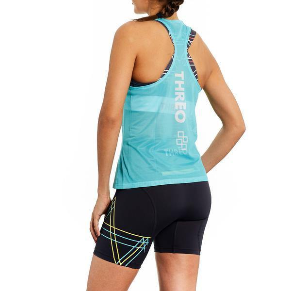 Threo Battersea Park Running Singlet - Aqua - SpinWarriors