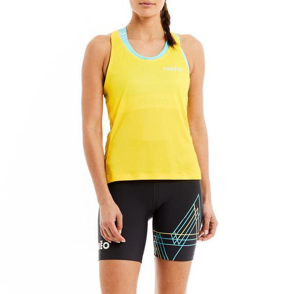 Threo Battersea Park Running Singlet - Yellow