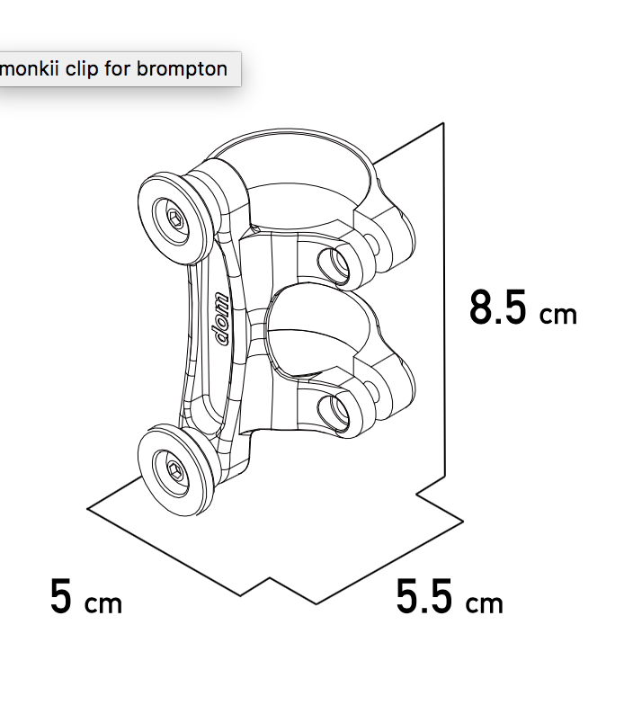 Free Parable Monkii Clip for Brompton