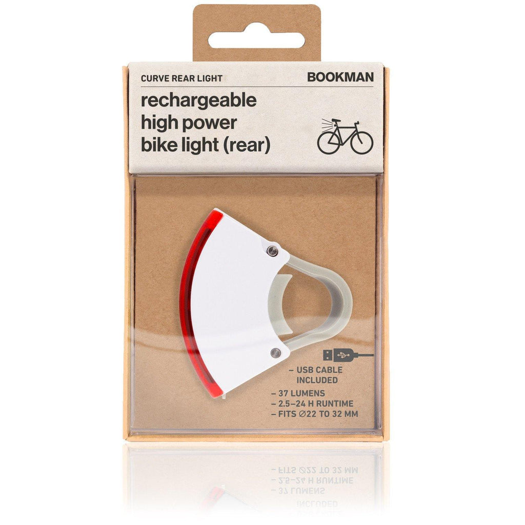 Bookman Curve Rear Light - White