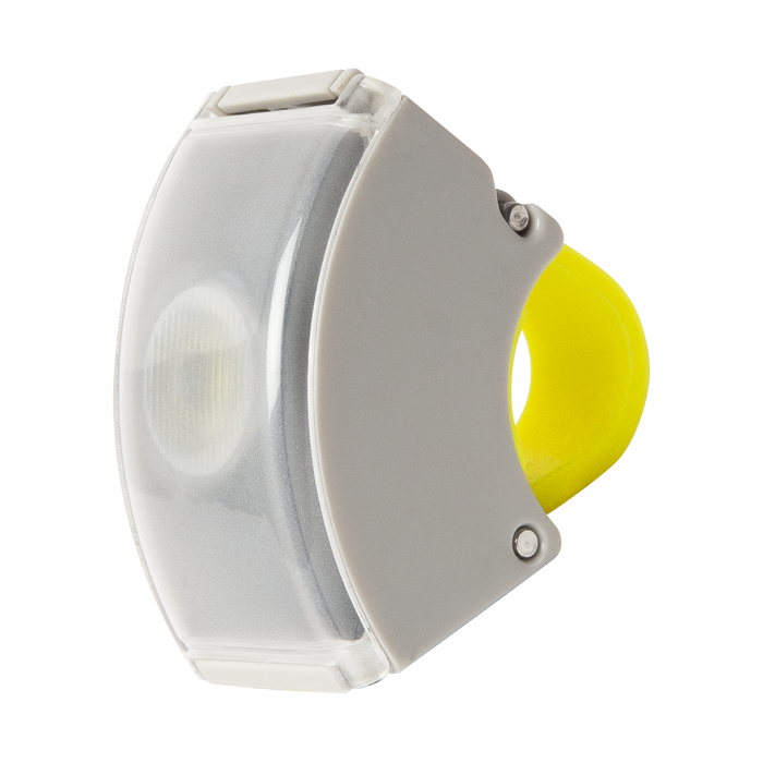 Bookman Curve Front Light - Grey/Acid Yellow