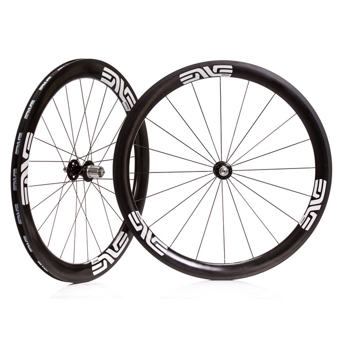ENVE SES 4.5 Carbon Clincher Road Wheelset - Chris King R45 Ceramic Hubs - White Decal