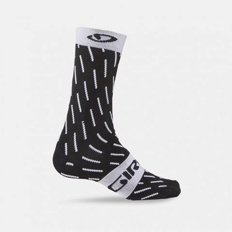 Giro Comp Racer High Rise Socks -Black/White Echelon