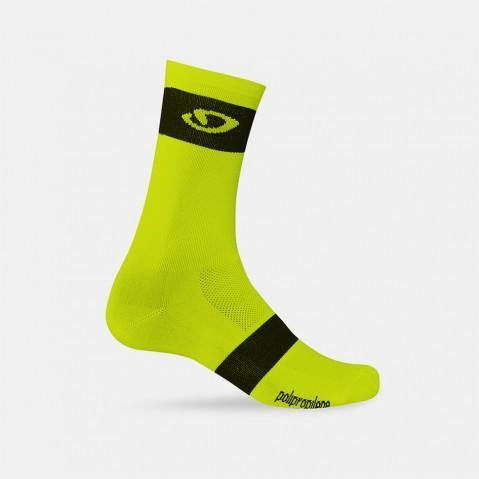 Giro Comp Racer High Rise Socks - Highlight Yellow/Black