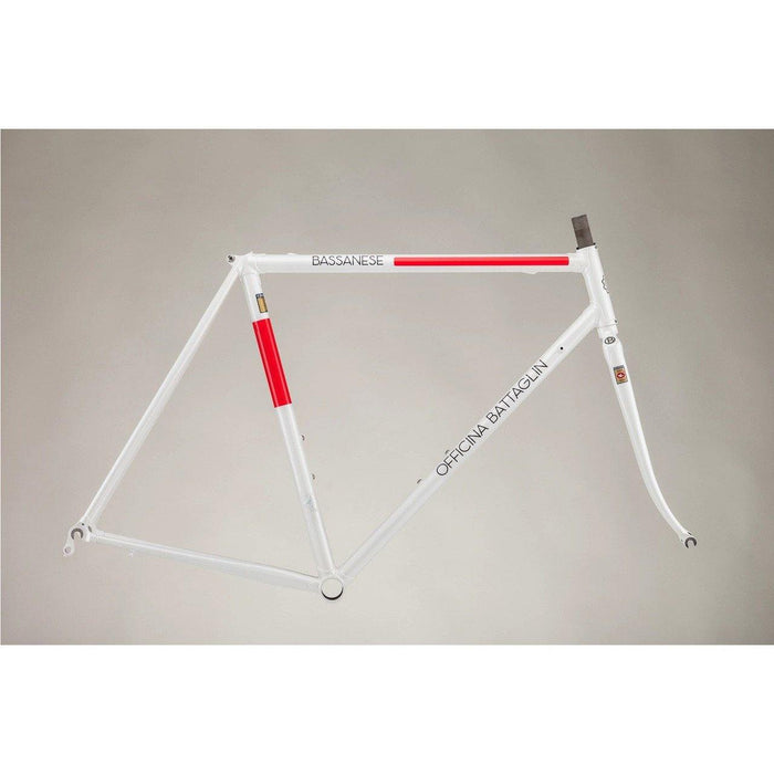 Battaglin Bassanese Steel Frameset - White/Red