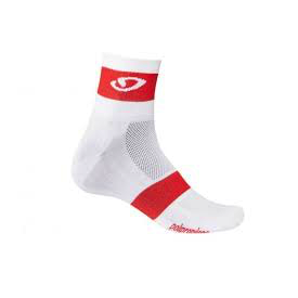 Giro Comp Racer Socks - White/Bright Red