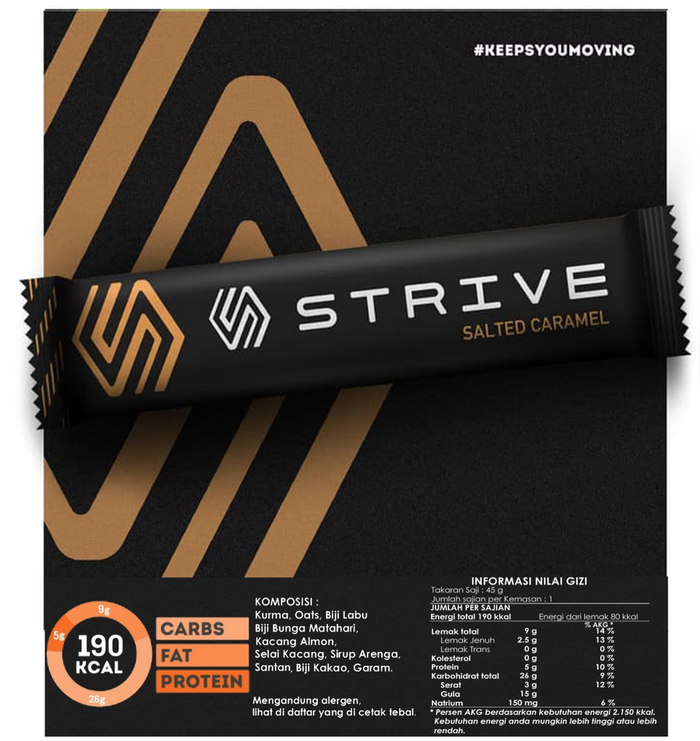Strive Energy Bar - Salted Caramel (6pcs/box)