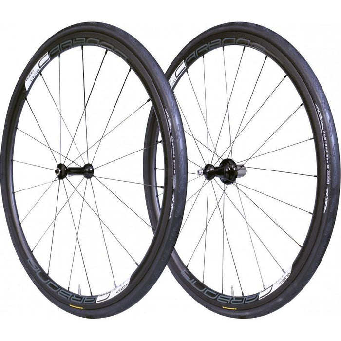 Tufo Carbona 30 Tubular Wheelset (Free Tufo Tubular Tires) - Black/White