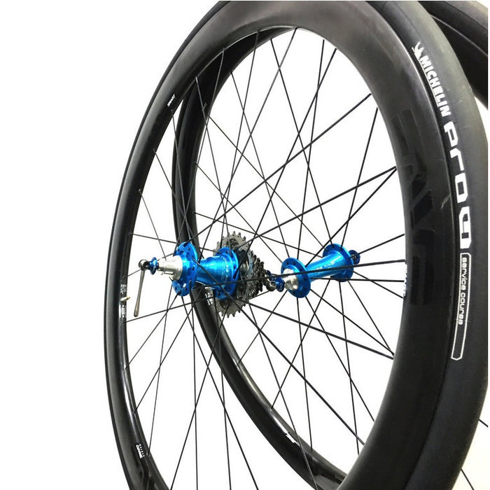 ENVE SES 3.4 Carbon Clincher Wheelset - Chris King R45 Turquoise Ceramic Hubs
