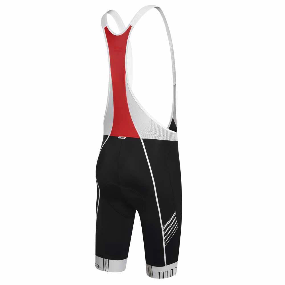 Zero rh+ Creek Bibshort - Black/White/Red