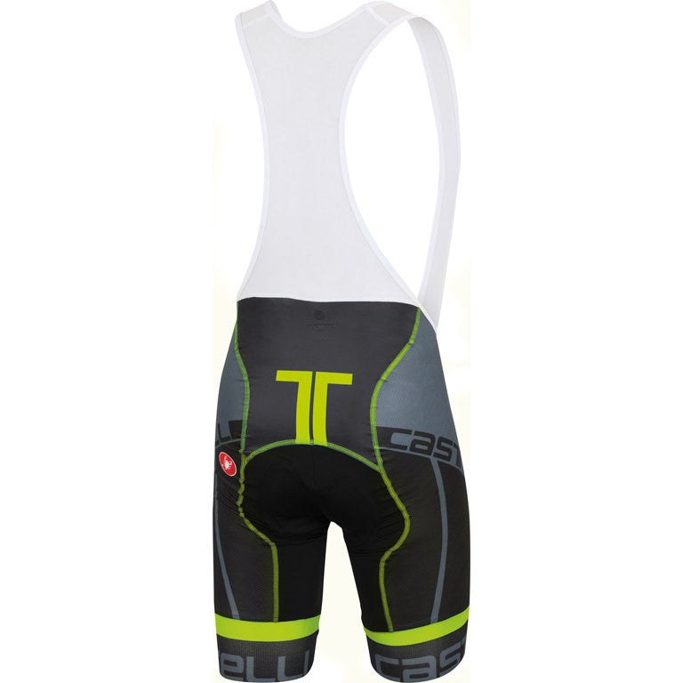 Castelli Volo Bibshort - Black/Yellow Fluo