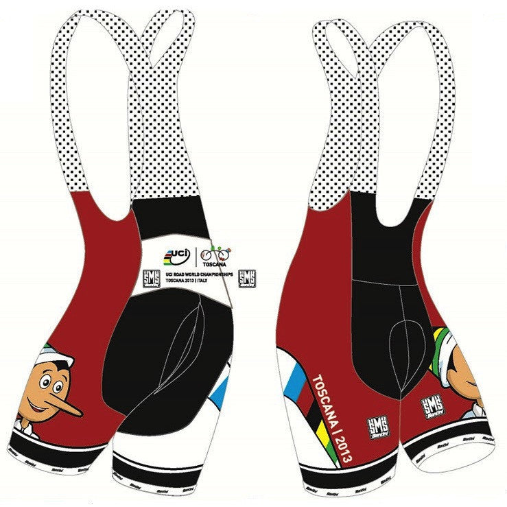 Santini UCI World Championship Pinocchio Limited Edition Bibshort