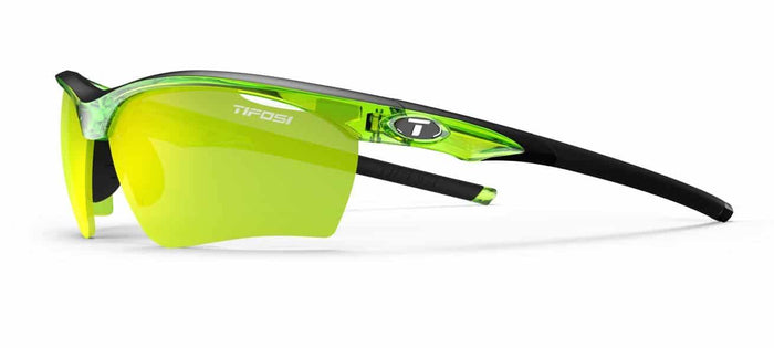 Tifosi Vero Crystal Neon Green Sunglasses - Clarion Yellow, AC Red & Clear Lenses