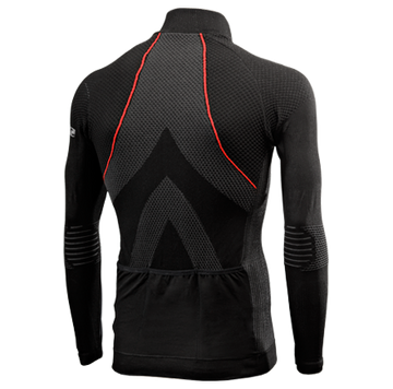 SIX2 Wind Jersey AW - Black/Red - SpinWarriors