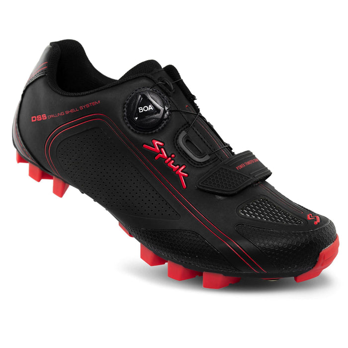 Spiuk Altube-M MTB Shoes - Black Matte/Red