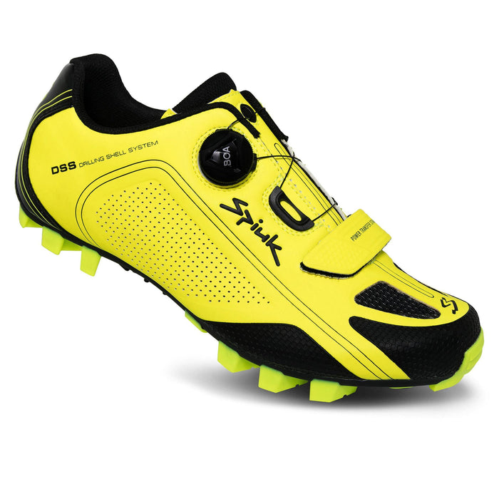 Spiuk Altube-M MTB Shoes - Yellow Fluor Matte
