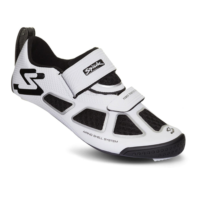 Spiuk Trivium-C Triathlon Shoe - White/Silver/Black