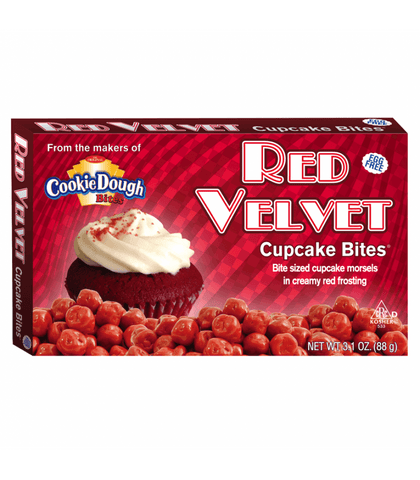 Cookie Dough Red Velvet Cupcake Bites - Plus Candy