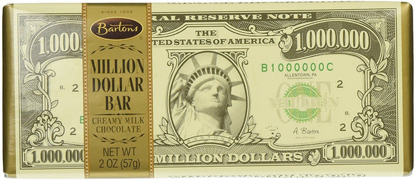 Bartons Million Dollar Chocolate Bar [57g] - USA