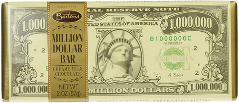 Bartons Million Dollar Chocolate Bar - Plus Candy