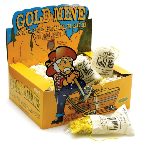 Gold Mine Nugget Bubble Gum - Plus Candy